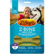 Zuke's Z-Bone with Apples Dental Dog Treats, Large, 6 count