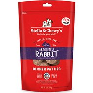 Stella & Chewy's Absolutely Rabbit Dinner Patties Freeze-Dried Raw Dog Food, 5.5-oz bag