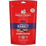 Stella & Chewy's Absolutely Rabbit Dinner Patties Grain-Free Freeze-Dried Dog Food, 14-oz bag
