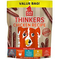 Plato Thinkers Chicken Smart Dog Treats, 22-oz bag