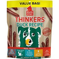 Plato Thinkers Natural Duck Smart Dog Treats, 22-oz bag