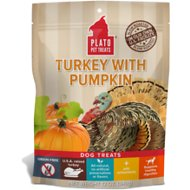 Plato Real Strips Turkey With Pumpkin Dog Treats, 12-oz bag