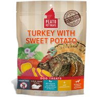 Plato Real Strips Turkey With Sweet Potato Dog Treats, 12-oz bag