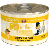 Weruva Cats in the Kitchen Chicken Frick 'A Zee Chicken Recipe Au Jus Grain-Free Canned Cat Food, 6-oz, case of 24