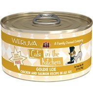 Weruva Cats in the Kitchen Goldie Lox Chicken & Salmon Au Jus Grain-Free Canned Cat Food, 3.2-oz, case of 24