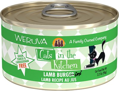 7. Weruva Cats in the Kitchen Lamb Burgini