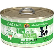 Weruva Cats in the Kitchen Lamb Burgini, Lamb Recipe Au Jus Grain-Free Canned Cat Food, 3.2-oz, case of 24