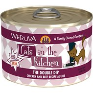 Weruva Cats in the Kitchen The Double Dip Chicken & Beef Au Jus Grain-Free Canned Cat Food, 6-oz, case of 24