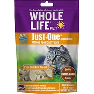 Whole Life Just One Ingredient Pure Chicken Breast Freeze-Dried Cat Treats, 1-oz bag