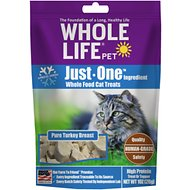 Whole Life Just One Ingredient Pure Turkey Breast Freeze-Dried Cat Treats, 1-oz bag