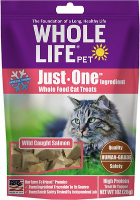 Whole Life Just One Ingredient Pure Salmon Fillet Freeze-Dried Cat Treats, slide 1 of 1