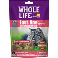 Whole Life Just One Ingredient Pure Salmon Fillet Freeze-Dried Cat Treats, 1-oz bag