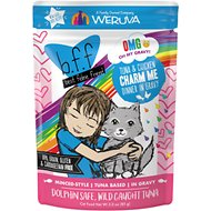 BFF OMG Tuna & Chicken Charm Me Dinner in Gravy Wet Cat Food Pouches, 3-oz, case of 12
