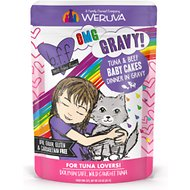 BFF OMG Tuna & Beef Baby Cakes with Tuna & Beef in Gravy Wet Cat Food Pouches, 3-oz, case of 12