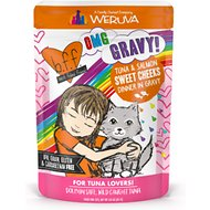BFF OMG Tuna & Salmon Sweet Cheeks Dinner in Gravy Wet Cat Food Pouches, 3-oz, case of 12
