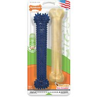 Nylabone Dental Chew & FlexiChew Twin Pack Bone Dog Toys, Large