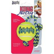 KONG AirDog Squeakair Ball with Rope Dog Toy, Medium