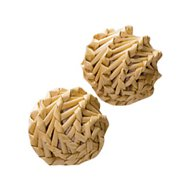 KONG Naturals Straw Balls Cat Toy, Straw Balls, 2-pack