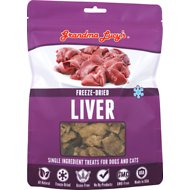 Grandma Lucy's Freeze-Dried Singles Liver Dog & Cat Treats, 2.5-oz bag