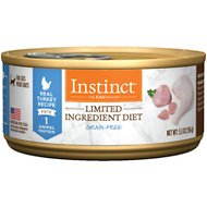 Instinct by Nature's Variety Limited Ingredient Diet Grain-Free Real Turkey Recipe Natural Wet Canned Cat Food, 5.5-oz, case of 12