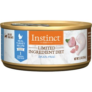 Instinct Limited Ingredient Diet Grain-Free Pate Real Turkey Recipe Natural Wet Canned Cat Food, 5.5-oz, case of 12