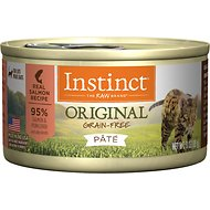 Instinct by Nature's Variety Original Grain-Free Real Salmon Recipe Natural Wet Canned Cat Food, 3-oz, case of 24