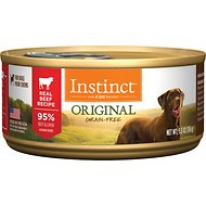 Instinct by Nature's Variety Original Grain-Free Real Beef Recipe Natural Wet Canned Dog Food, 5.5-oz, case of 12