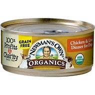 Newman's Own Organics Grain-Free 95% Chicken & Liver Dinner Canned Dog Food, 5.5-oz, case of 24