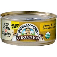 Newman's Own Organics Grain-Free Turkey & Liver Dinner Canned Dog Food, 5.5-oz, case of 24