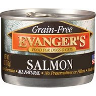 Evanger's Grain-Free Wild Salmon Canned Dog & Cat Food, 6-oz, case of 24