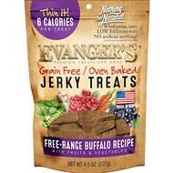 Evanger's Nothing But Natural Buffalo with Fruits & Vegetables Grain-Free Jerky Dog Treats, 4.5-oz bag