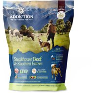 Addiction Grain-Free Steakhouse Beef & Zucchini Entree Raw Dehydrated Dog Food, 2-lb box