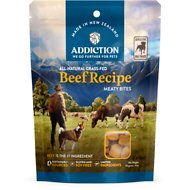 Addiction Meaty Bites Beef Dog Treats, 4-oz bag