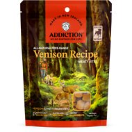 Addiction Meaty Bites Venison Dog Treats, 4-oz bag