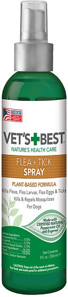 Vets Best Flea Tick Spray For Dogs 8 Oz Bottle Chewycom