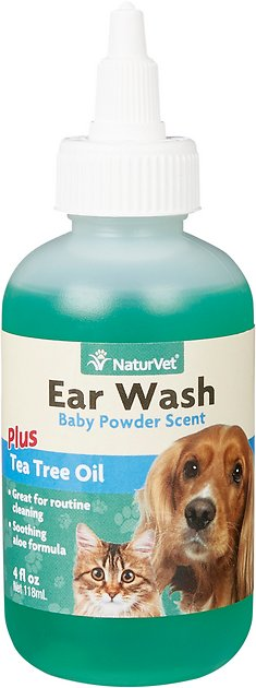 naturvet ear wash with tea tree oil for dogs cats 4 oz bottle. Black Bedroom Furniture Sets. Home Design Ideas