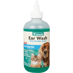 NaturVet Ear Wash with Tea Tree Oil for Dogs & Cats