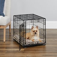 MidWest iCrate Single Door Fold & Carry Dog Crate, 24-in