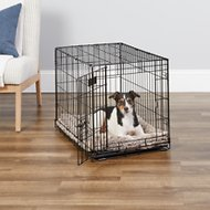 MidWest iCrate Single Door Fold & Carry Dog Crate, 30-in