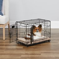 MidWest iCrate Double Door Fold & Carry Dog Crate, 22-in