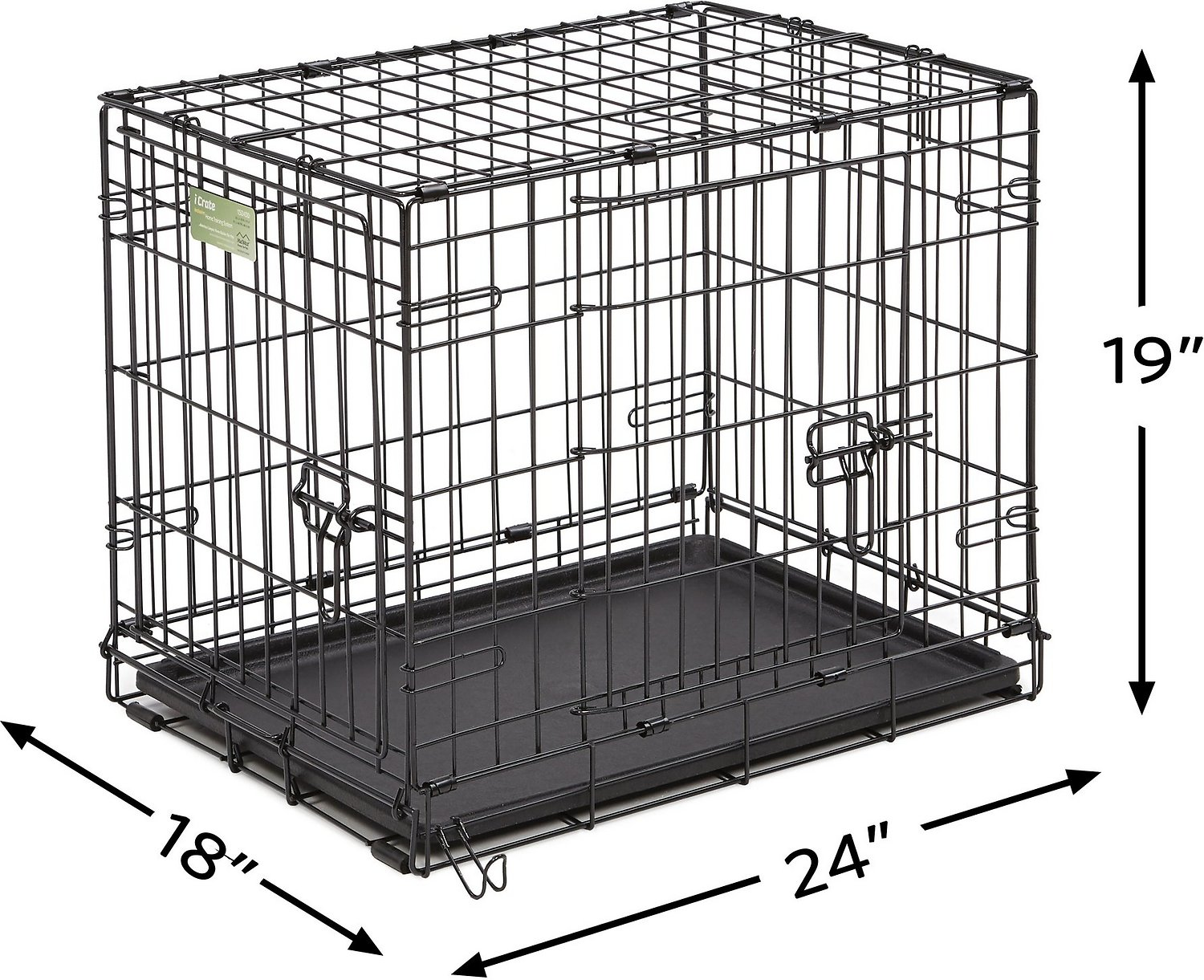 Midwest Icrate Double Door Fold Amp Carry Dog Crate 24 In