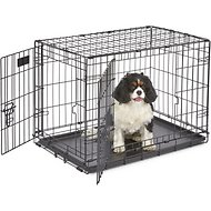 MidWest iCrate Double Door Fold & Carry Dog Crate, 30-in