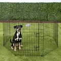 MidWest Exercise Pen with Step-Thru Door, Black E-Coat