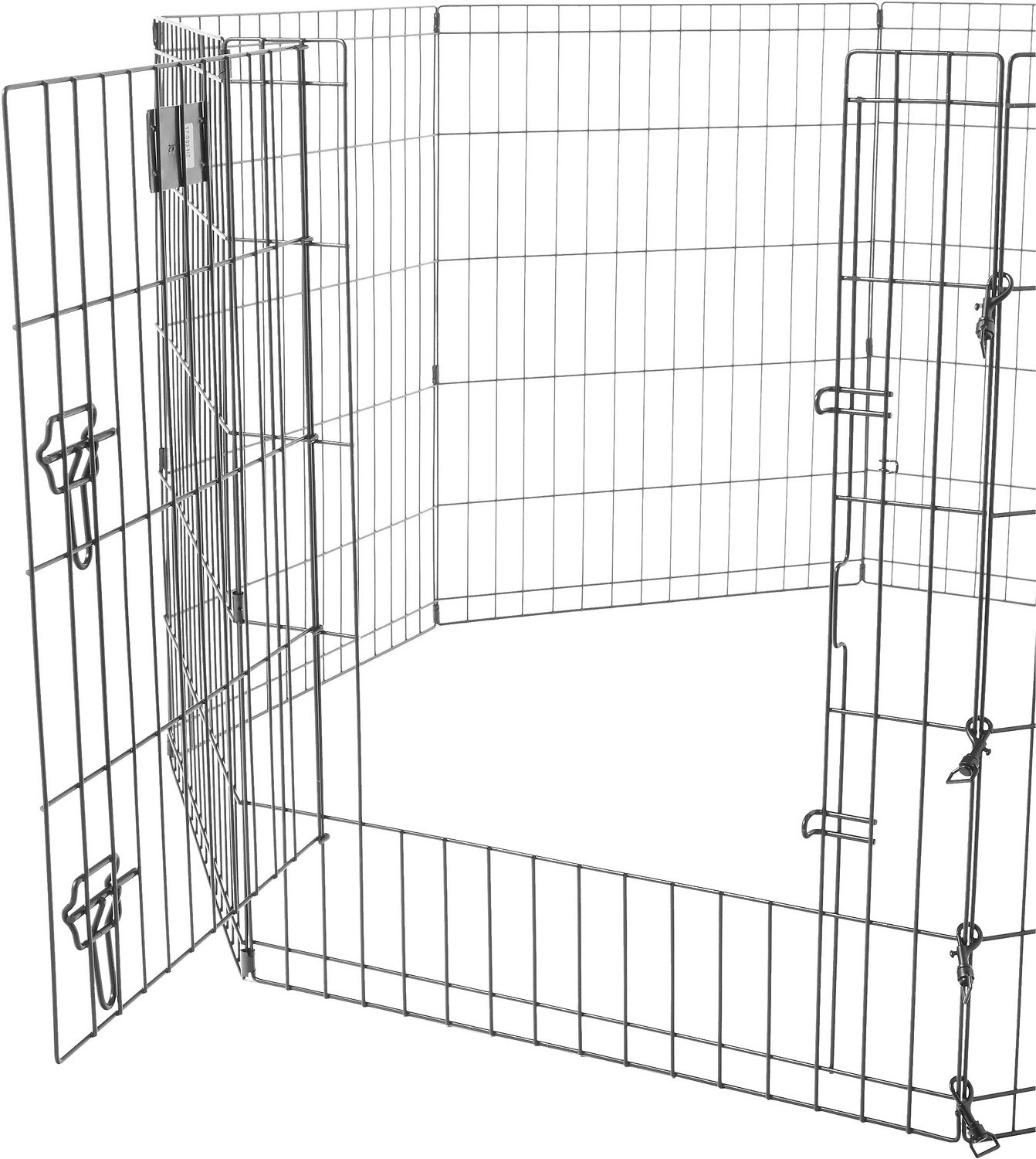 Midwest Exercise Pen With Step Thru Door Black E Coat 30 In