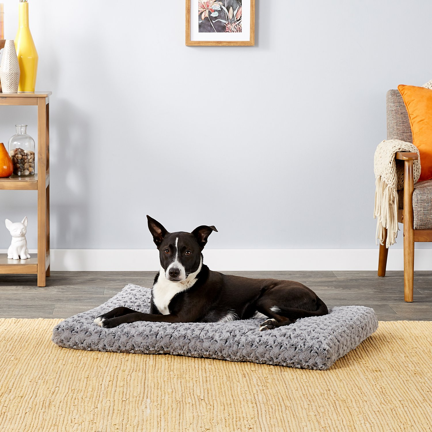 Midwest Quiet Time Ombre Swirl Dog Cat Bed Grey 36 In Chewy