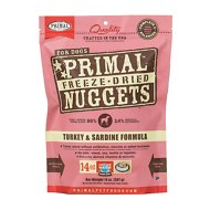 Primal Turkey & Sardine Formula Nuggets Grain-Free Raw Freeze-Dried Dog Food, 14-oz bag