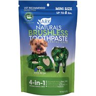 Ark Naturals Brushless Toothpaste Mini Dental Dog & Cat Chews, 4-oz bag