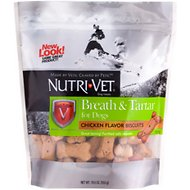 Nutri-Vet Breath & Tartar Chicken Flavored Dental Dog Biscuit Treats