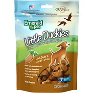 Emerald Pet Little Duckies with Duck & Sweet Potato Dog Treats, 5-oz bag