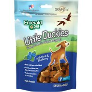 Emerald Pet Little Duckies with Duck & Blueberry Dog Treats, 5-oz bag